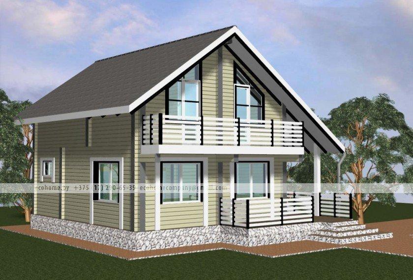 Как сделать дом из бруса с балконом своими руками. балконы н.