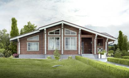 Типовые проекты домов из бруса и бревна